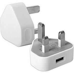 USB 3-Pin Wall Plug charger 1000mAh output